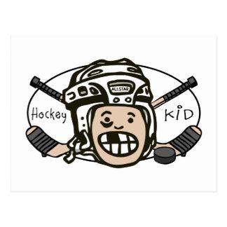 Niño del hockey postales