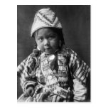 Niño del indio de Wishham Tarjeta Postal