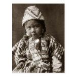 Niño del indio de Wishham Tarjetas Postales