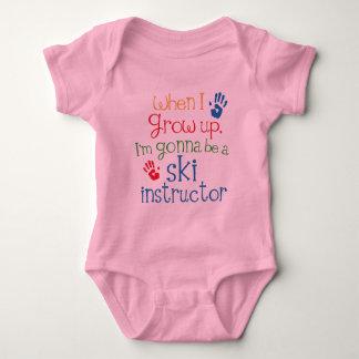 Niño del instructor del esquí (futuro) body para bebé