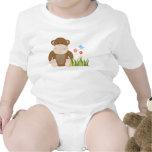 Niño del mono de la selva y mameluco del bebé camiseta