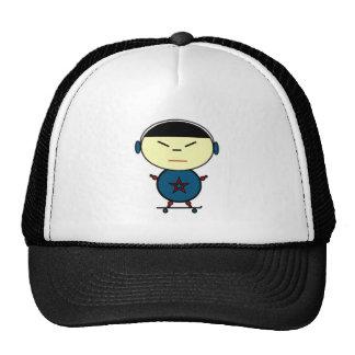 Niño del monopatín gorras