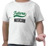 Niño del músico (futuro) camisetas