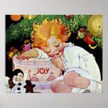 Niño del navidad de la alegría impresiones