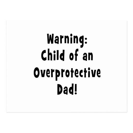 niño del negro sobreprotector del papá tarjetas postales