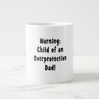 niño del negro sobreprotector del papá tazas jumbo