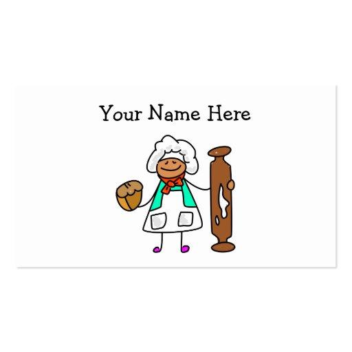 Niño del panadero tarjetas de visita