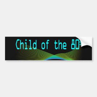 Niño del pegatina de Numper de los años 80 Pegatina Para Auto