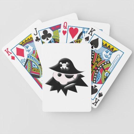 Niño del pirata baraja de cartas
