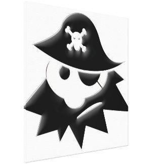 Niño del pirata impresión en lienzo estirada