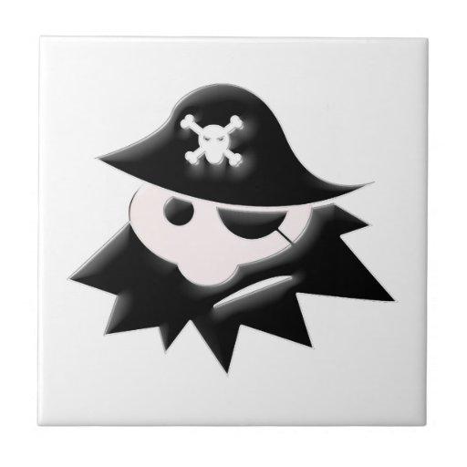 Niño del pirata tejas  ceramicas