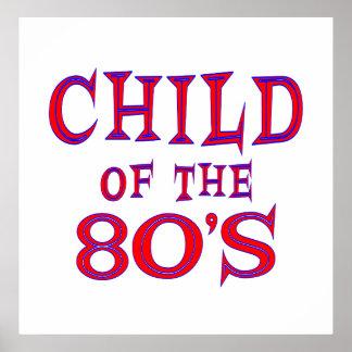 Niño del poster 80s