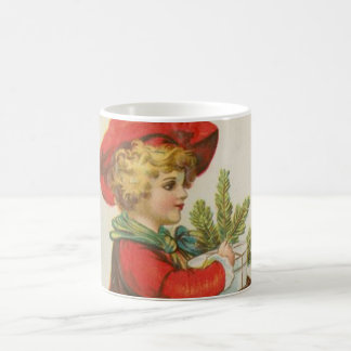 Niño del regalo del navidad del vintage tazas de café