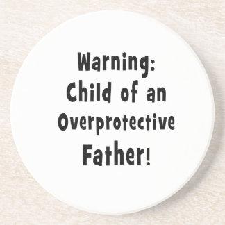 niño del texto sobreprotector del negro del padre posavasos personalizados