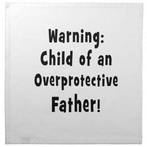 niño del texto sobreprotector del negro del padre servilletas imprimidas