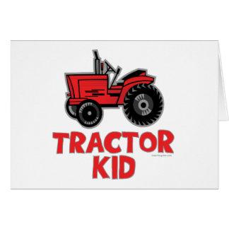Niño del tractor tarjeta de felicitación