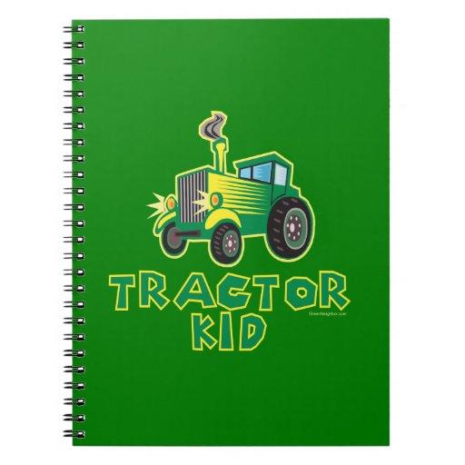 Niño del tractor, verde libreta