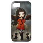 Niño del vampiro gótico de Halloween con los gatos iPhone 5 Case-Mate Cobertura