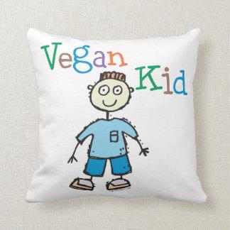 Niño del vegano cojín