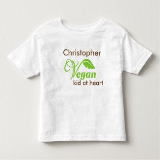 Niño del vegano en el corazón playera de bebé