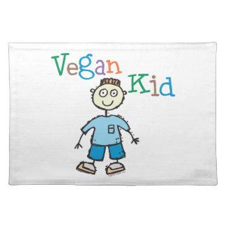 Niño del vegano mantel individual