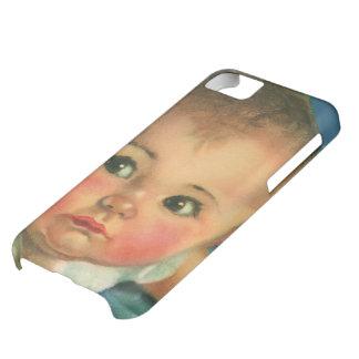 Niño del vintage, bebé lindo o chica en Highchair Funda Para iPhone 5C