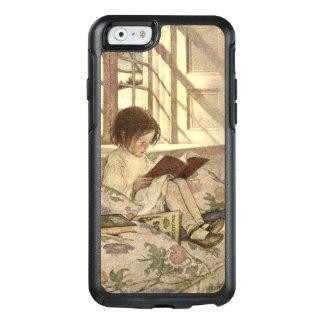 Niño del vintage que lee un libro, Jessie Willcox Funda Otterbox Para iPhone 6/6s