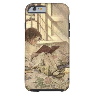 Niño del vintage que lee un libro, Jessie Willcox Funda Resistente iPhone 6