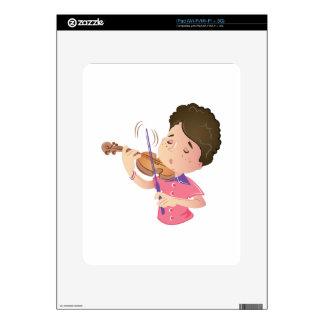 Niño del violín iPad skin
