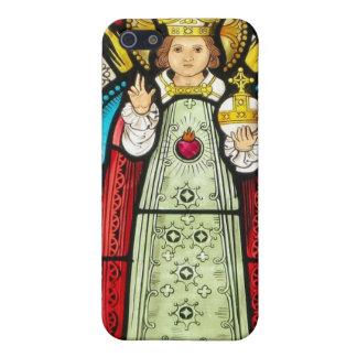 Niño del vitral de Praga iPhone 5 Carcasas