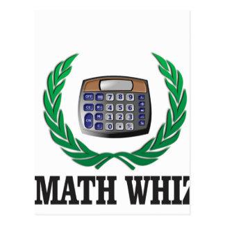 niño del whiz de la matemáticas tarjeta postal