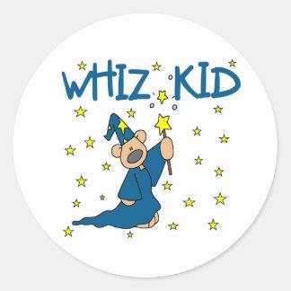 Niño del Whiz Pegatina Redonda