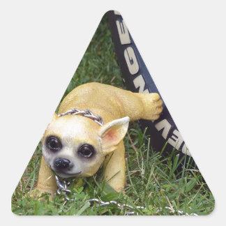 Niño del Whiz Pegatina Triangular