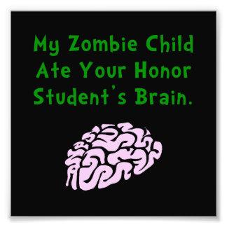 Niño del zombi cojinete