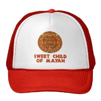 Niño dulce de maya gorros bordados