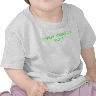 niño dulce del sleepsuit de la mina camisetas