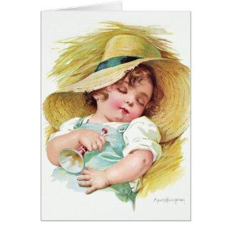 Niño durmiente de Maud Humphrey Tarjeta De Felicitación