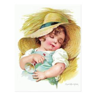 Niño durmiente de Maud Humphrey Tarjeta Postal