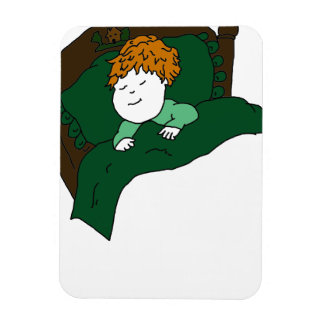 Niño durmiente iman rectangular