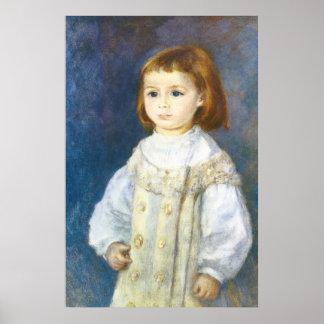 Niño en blanco de Pedro Auguste Renoir Posters