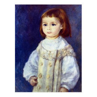 Niño en blanco de Pedro Renoir Postal