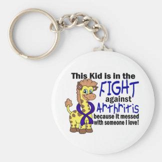 Niño en la lucha contra artritis llaveros personalizados