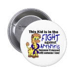 Niño en la lucha contra artritis pin