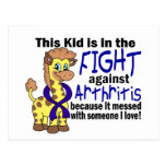 Niño en la lucha contra artritis postal
