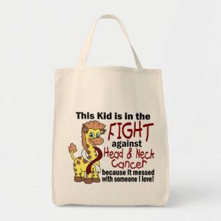 Niño en la lucha contra cáncer de cabeza y cuello bolsas de mano