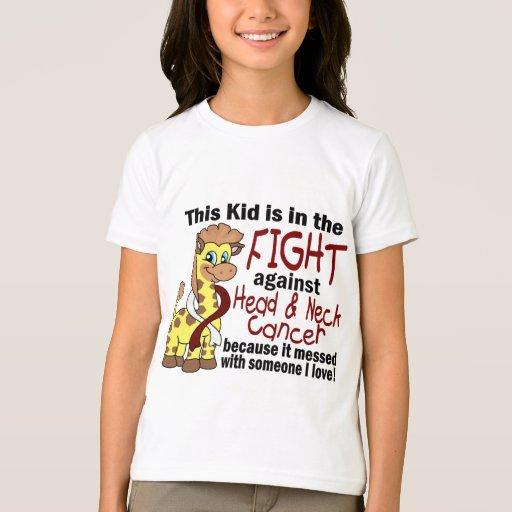 Niño en la lucha contra cáncer de cabeza y cuello playera