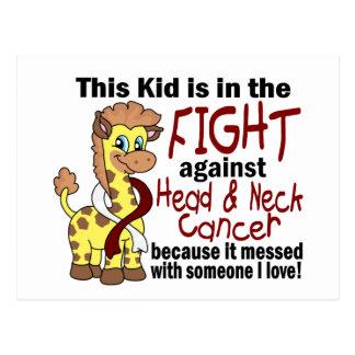 Niño en la lucha contra cáncer de cabeza y cuello postal