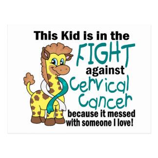 Niño en la lucha contra cáncer de cuello del útero tarjeta postal
