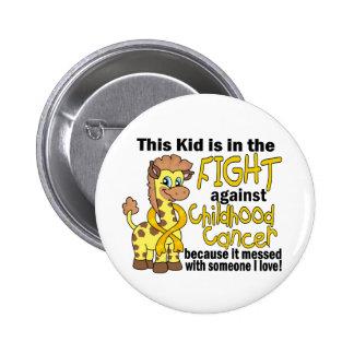 Niño en la lucha contra cáncer de la niñez pin