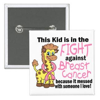 Niño en la lucha contra cáncer de pecho pins